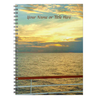 Marine Sunrise Personalized Notebook