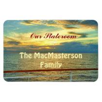 Marine Sunrise Stateroom Door Marker Magnet