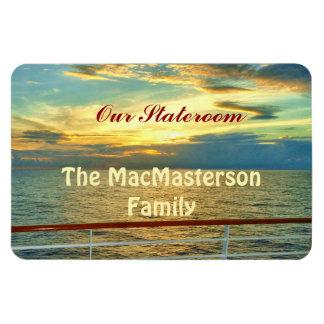 Marine Sunrise Stateroom Door Marker Rectangular Photo Magnet