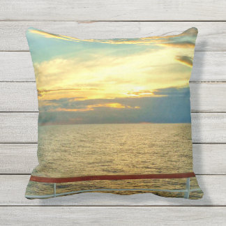 Marine Sunrise Throw Pillow
