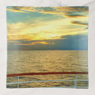 Marine Sunrise Trinket Trays