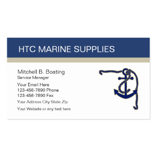 Marine Supply Business Cards