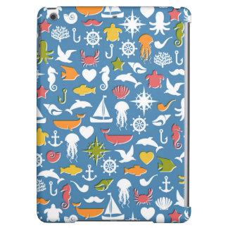 Marine Symbols Pattern Cover For iPad Air
