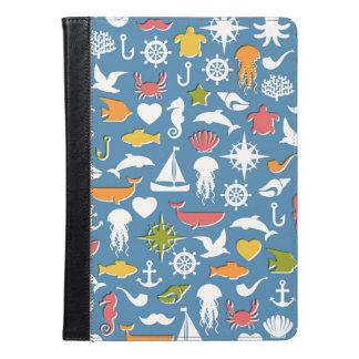 Marine Symbols Pattern iPad Air Case
