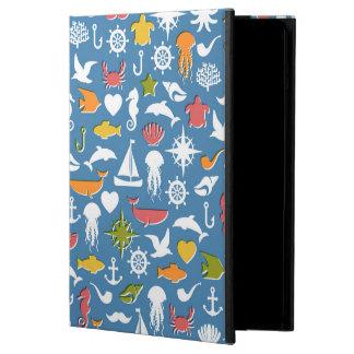 Marine Symbols Pattern iPad Air Cover