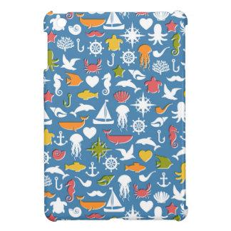 Marine Symbols Pattern iPad Mini Covers