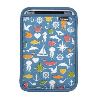 Marine Symbols Pattern iPad Mini Sleeve
