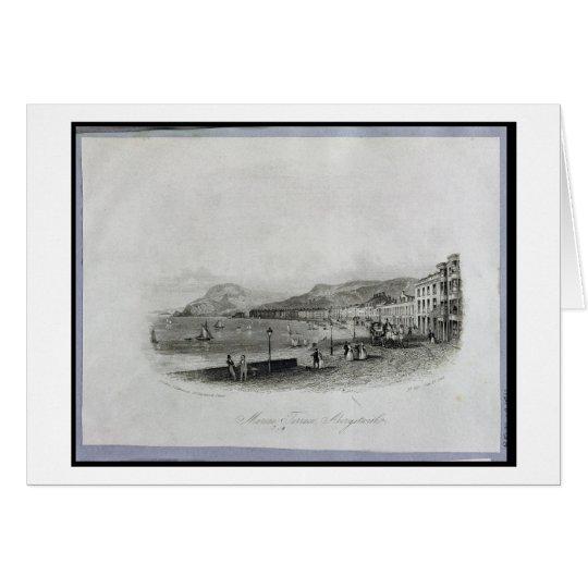 Marine Terrace, Aberystwyth, 1844 (engraving and a Card