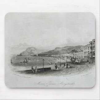 Marine Terrace, Aberystwyth, 1844 (engraving and a Mouse Pad