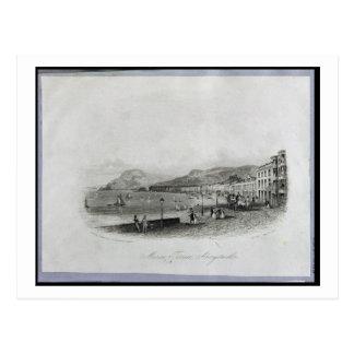 Marine Terrace, Aberystwyth, 1844 (engraving and a Postcard