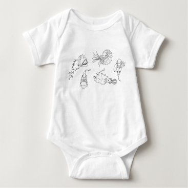 Beach Themed Marine theme baby bodysuit
