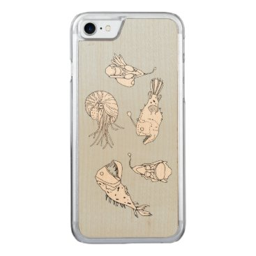 Beach Themed Marine theme carved iPhone 7 case
