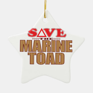 Marine Toad Save Ceramic Ornament