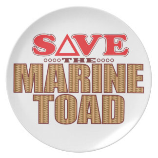 Marine Toad Save Melamine Plate