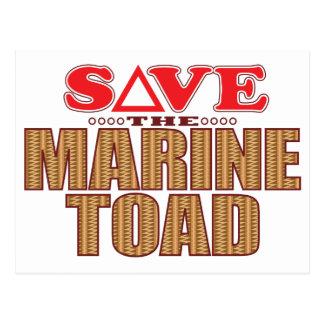 Marine Toad Save Postcard