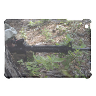 Marine uses a tree for cover and concealment iPad mini case