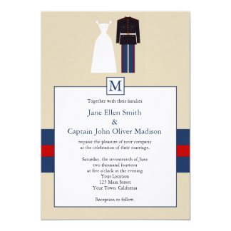 Marine Wedding Invitation