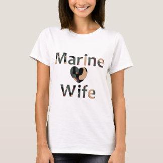 Marine Wife Heart Camo T-Shirt