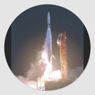 Mariner I 1 rocket into space toward Venus NASA Classic Round Sticker