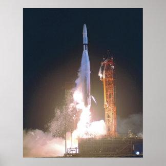 Mariner I 1 rocket into space toward Venus NASA Poster