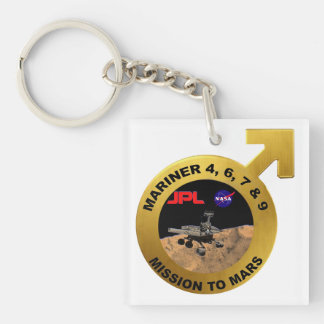 Mariner: The Early Mars Probes! Double-Sided Square Acrylic Keychain