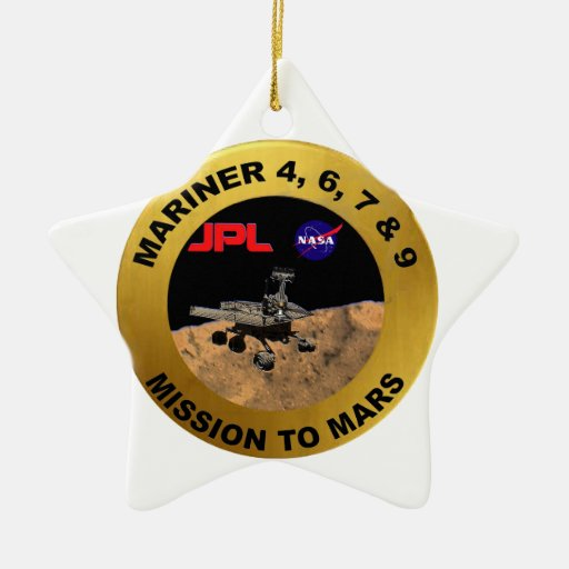 Mariner: The Early Mars Probes! Double-Sided Star Ceramic Christmas Ornament
