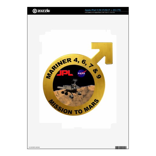 Mariner: The Early Mars Probes! Skin For iPad 3