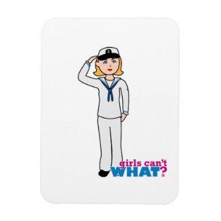 Marinera en uniforme del marinero imanes de vinilo