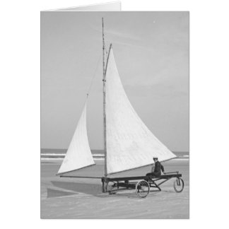 Marinero 1903 de la playa tarjeta de felicitación