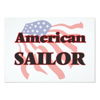 """Marinero americano invitación 5"""" x 7"""""""