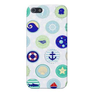Marinero azul náutico Pern iPhone 5 Protector