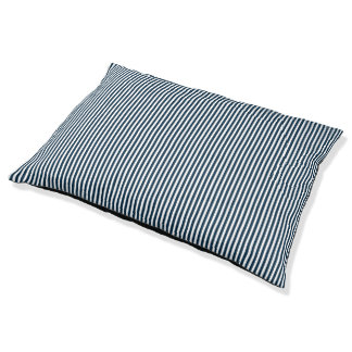 Marinero azul y blanco de medianoche rayado cama para perro grande
