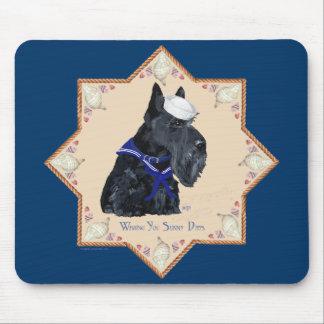 Marinero de Shell del mar de Terrier del escocés Alfombrillas De Ratón