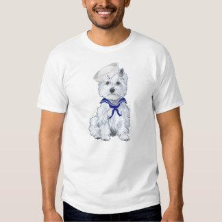 Marinero de Terrier blanco de montaña del oeste Playera