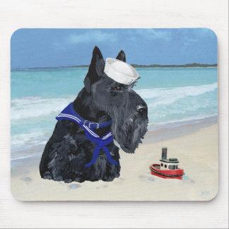 Marinero de Terrier del escocés Alfombrillas De Ratón
