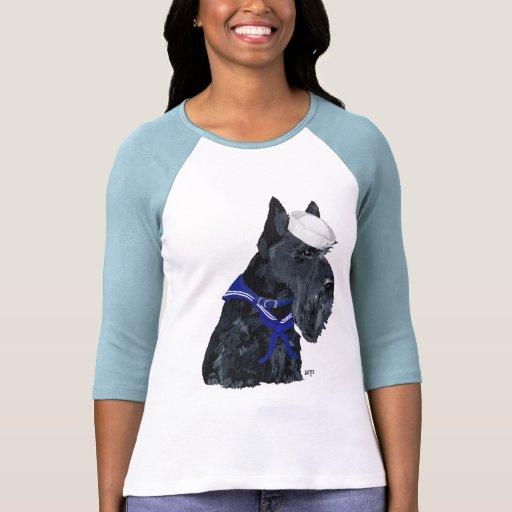 Marinero de Terrier del escocés Camisetas