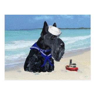 Marinero de Terrier del escocés Tarjetas Postales