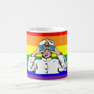 Marinero del arco iris tazas