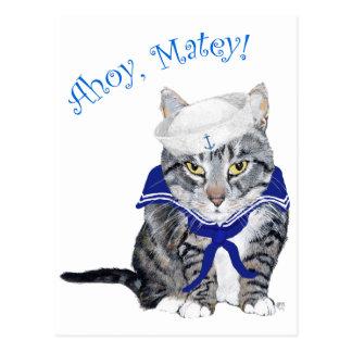 Marinero del gato de Tabby Postales