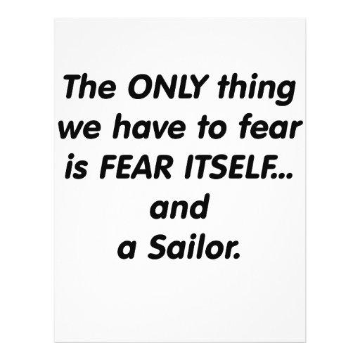 Marinero del miedo tarjeta publicitaria