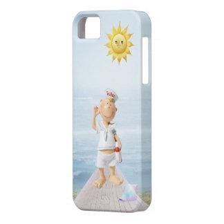 Marinero feliz lindo en paseo marítimo iPhone 5 carcasas