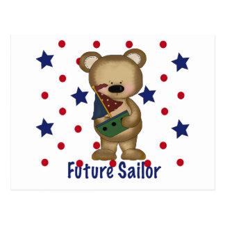 Marinero lindo del futuro del oso tarjeta postal