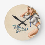 """Marinero modelo del vintage original """"hola!"""" relojes de pared"""