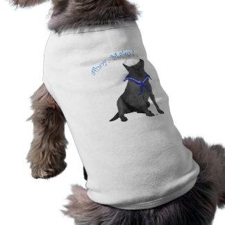 Marinero negro del labrador retriever playera sin mangas para perro