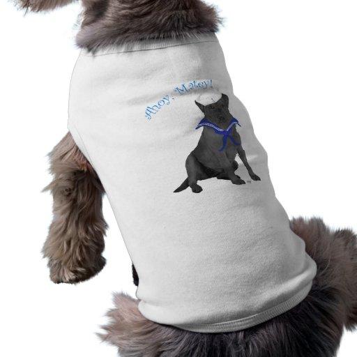Marinero negro del labrador retriever camisetas de mascota