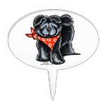 Marinero negro del perro chino de perro chino decoración de tarta