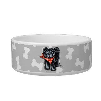 Marinero negro del perro chino de perro chino comedero para mascota