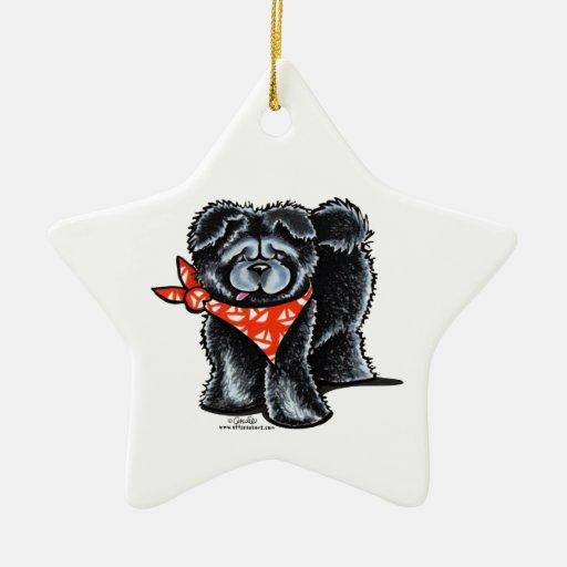 Marinero negro del perro chino de perro chino ornatos