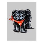Marinero negro del perro chino de perro chino tarjeta postal