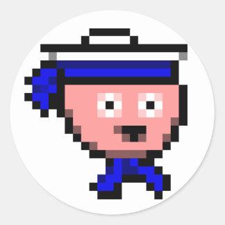 : marinero: pegatinas pegatina redonda